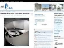 Chamber Music Hall / Zaha Hadid Architects :: ArchDaily- Wall of Cool at Synapse Product Development