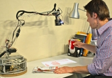 MIT student turns his lamp into a living, robotic assistant- Wall of Cool at Synapse Product Development
