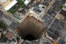 Dot Shot: Sinkhole in Guatemala City - Dot Earth Blog - NYTimes.com- Wall of Cool at Synapse Product Development