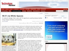 Technology Review: Wi-Fi via White Spaces- Wall of Cool at Synapse Product Development