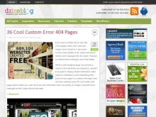 36 Cool Custom Error 404 Pages :: Dzine Blog- Wall of Cool at Synapse Product Development