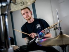 Bionic arm gives man ability to drum with two arms again- Wall of Cool at Synapse Product Development