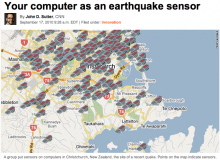 Your laptop as an earthquake sensor- Wall of Cool at Synapse Product Development