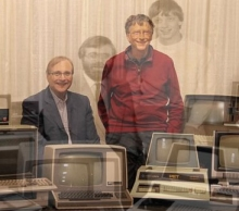 Bill Gates And Paul Allen Reunite And Recreate Classic 1981 Microsoft Photo- Wall of Cool at Synapse Product Development