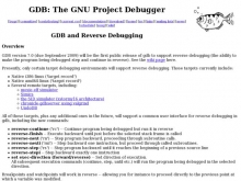 GDB and Reverse Debugging- Wall of Cool at Synapse Product Development